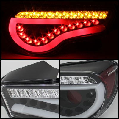 2013 Subaru BRZ Black LED Tail Lights