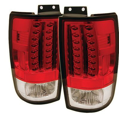 Ford Expedition 1997-2002 Red and Clear LED Tail Lights