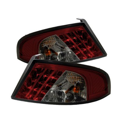 Dodge Stratus 2001-2006 Red and Smoked LED Tail Lights