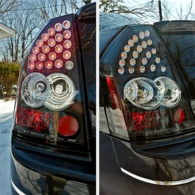 Chrysler 300 2005-2007 Black LED Tail Lights