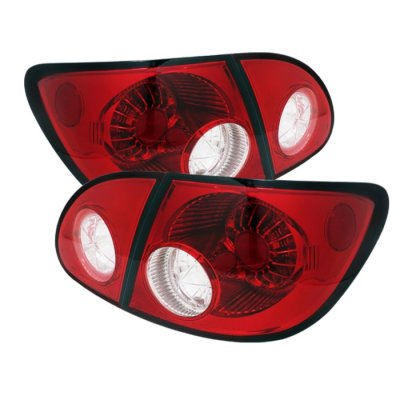 Toyota Corolla 2003-2008 Red and Clear LED Tail Lights