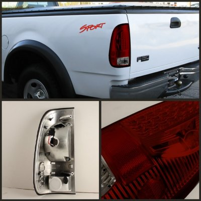 Ford F250 Super Duty 1999 2007 Red And Smoked Led Tail Lights