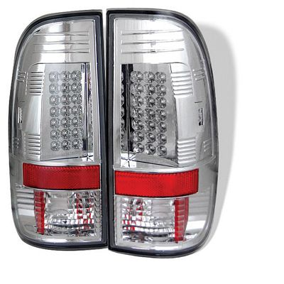 Ford F150 1997-2003 Clear LED Tail Lights