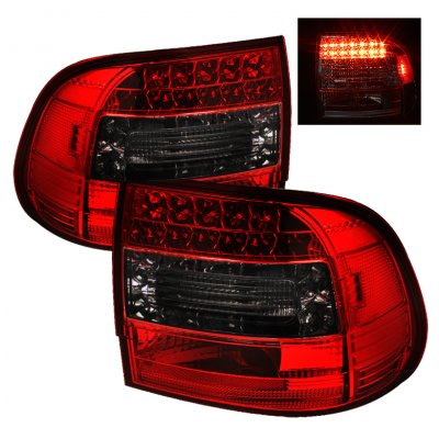 Porsche Cayenne 2003-2007 Red and Smoked LED Tail Lights