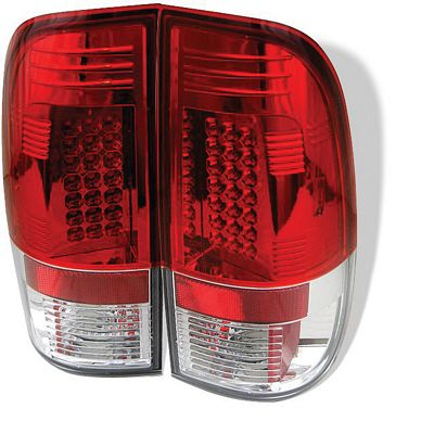 Ford F150 1997-2003 Red and Clear LED Tail Lights