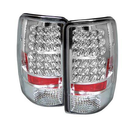 GMC Yukon Denali 2001-2006 Clear LED Tail Lights
