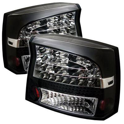 Dodge Charger 2006-2008 Black LED Tail Lights