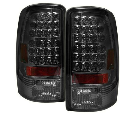 chevy tahoe 2000 2006 smoked led tail lights a1037r7b109. Black Bedroom Furniture Sets. Home Design Ideas