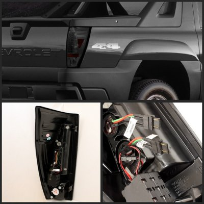 Chevy Avalanche 2002 2006 Smoked Led Tail Lights