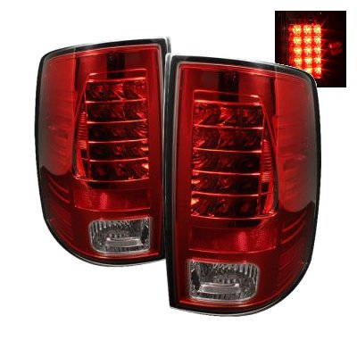 Dodge Ram 2500 2010-2015 Red and Clear LED Tail Lights