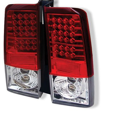 Scion xB 2003-2006 Red and Clear LED Tail Lights