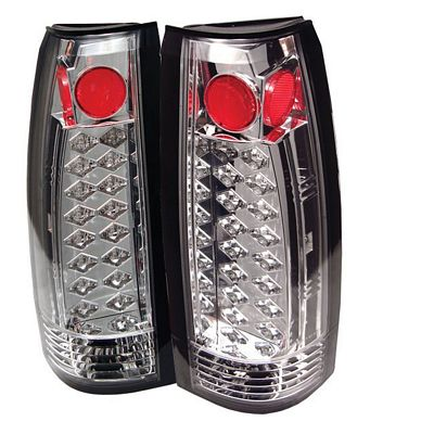 Chevy 1500 Pickup 1988-1998 Clear LED Tail Lights