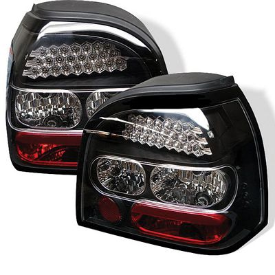 VW Golf 1993-1998 Black LED Tail Lights