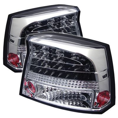 Dodge Charger 2006-2008 Clear LED Tail Lights