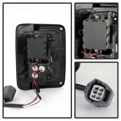 Jeep Wrangler JK 2007-2015 Black Smoked LED Tail Lights