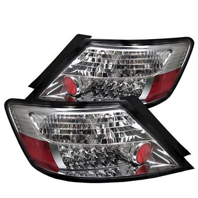 Honda Civic Coupe 2006-2010 Clear LED Tail Lights