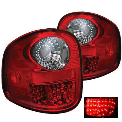 Ford F150 Flareside 1997-2003 LED Tail Lights Red and Smoked