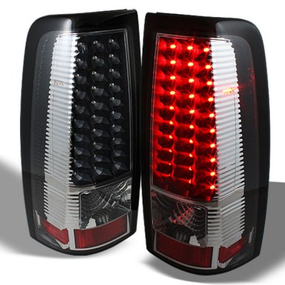 Chevy Silverado 1999-2002 Black LED Tail Lights