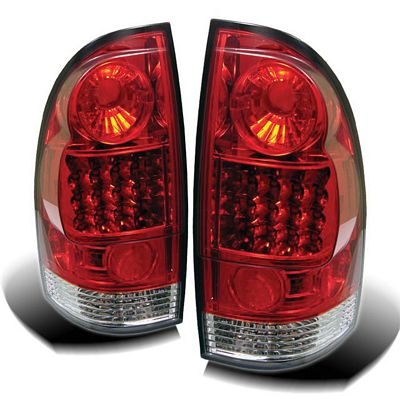 Toyota Tacoma 2005-2007 Red and Clear LED Tail Lights