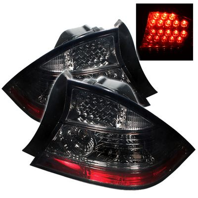 Honda Civic Coupe 2004-2005 Smoked LED Tail Lights