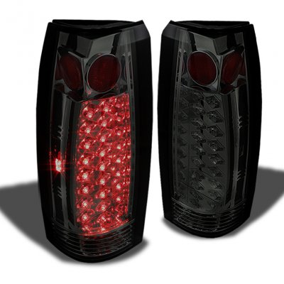 Chevy 1500 Pickup 1988-1998 Smoked LED Tail Lights
