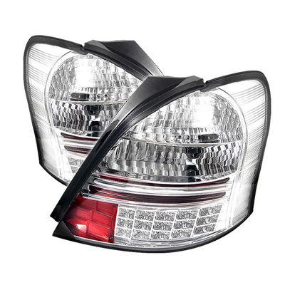 Toyota Yaris Coupe 2006-2008 Clear LED Tail Lights