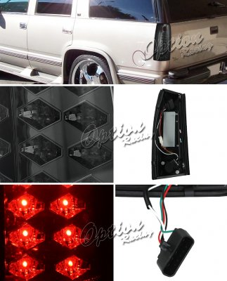 chevy silverado 1988 1998 smoked led tail lights. Black Bedroom Furniture Sets. Home Design Ideas