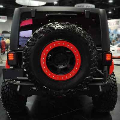 Elegant ... Jeep Wrangler JK 2007 2015 Black Smoked LED Tail Lights ...
