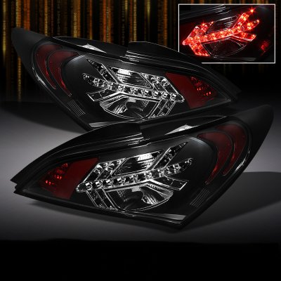 Hyundai Genesis Coupe 2010 2011 Black LED Tail Lights