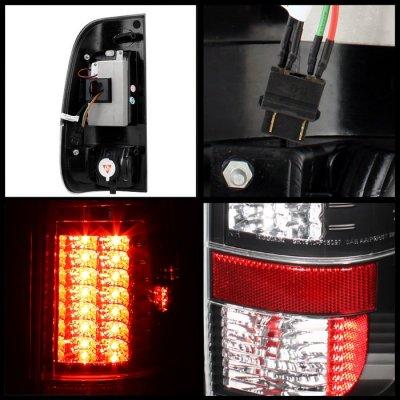 Ford F250 Super Duty 2008-2016 Black LED Tail Lights