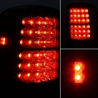 GMC Yukon Denali 2001-2006 LED Tail Lights Red and Clear