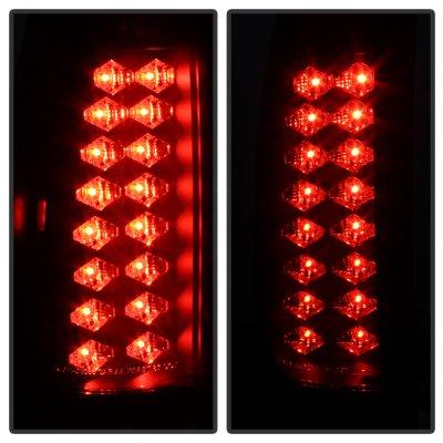 Chevy Silverado 1988-1998 Black Smoked LED Tail Lights