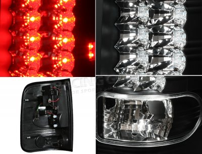 Ford F150 2004-2008 Black LED Tail Lights