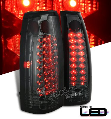 Chevy Blazer Full Size 1992 1994 Smoked Led Tail Lights