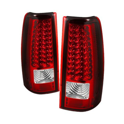 Chevy Silverado 2003 2006 Red And Clear Led Tail Lights