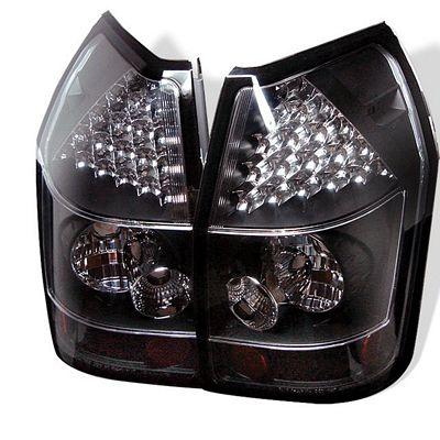 Dodge Magnum 2005-2008 Black LED Tail Lights