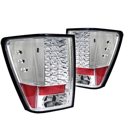 Jeep Grand Cherokee 2005-2006 Clear LED Tail Lights