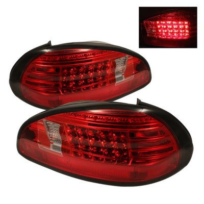 Pontiac Grand Prix 1997 2003 Red And Clear Led Tail Lights A1031vog109 Topgearautosport
