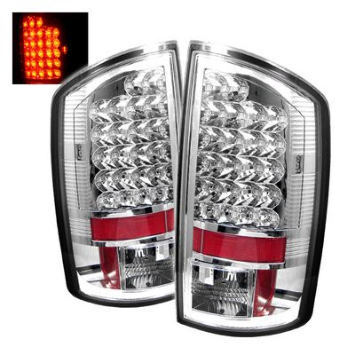 Dodge Ram 2007-2008 Clear LED Tail Lights