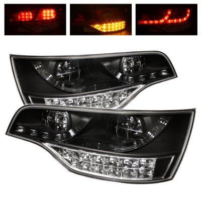 Audi Q7 2007-2009 Black LED Tail Lights