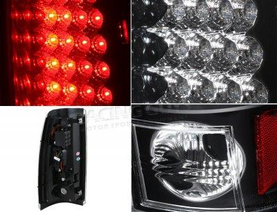Chevy Silverado 2003-2006 Black LED Tail Lights