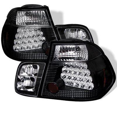 BMW E46 Sedan 3 Series 1999-2001 Black LED Tail Lights