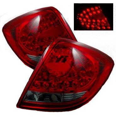 Pontiac G6 Sedan 2005 2009 Red And Smoked Led Tail Lights