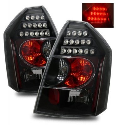 Chrysler 300C 2005-2007 LED Tail Lights with Black Housing