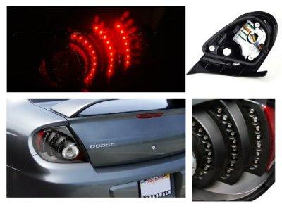 dodge neon 2003 2005 black led tail lights a1228n6v109 Edding Marker dodge neon 2003 2005 black led tail lights