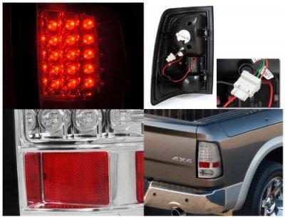 Dodge Ram 2009-2015 Clear LED Tail Lights