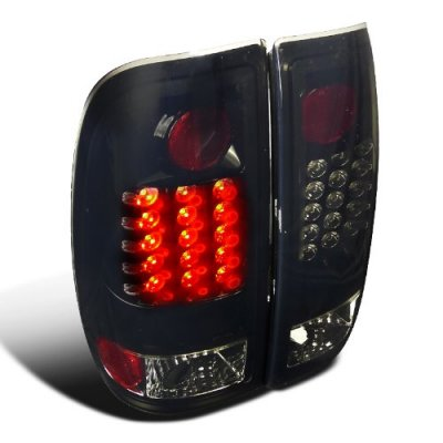 Ford F150 1997-2003 Black Smoked LED Tail Lights