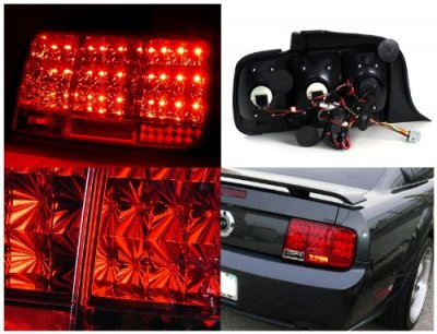 2005 Ford Mustang Red LED Tail Lights Sequential