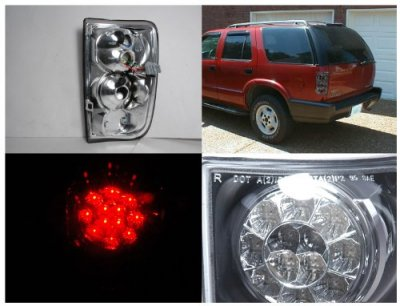 Chevy Blazer 1995 2004 Smoked Led Tail Lights