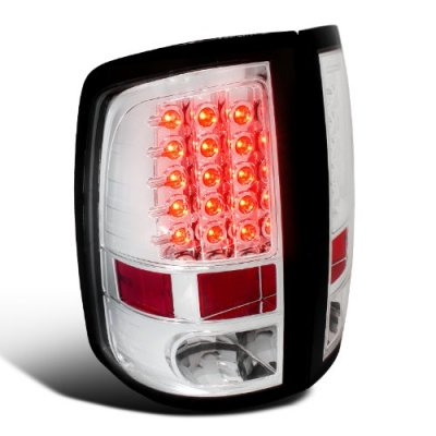 Dodge Ram 3500 2010-2015 Clear LED Tail Lights